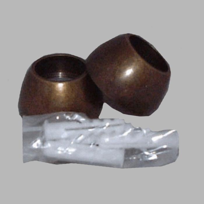 Gordijnroede 20 mm antiek