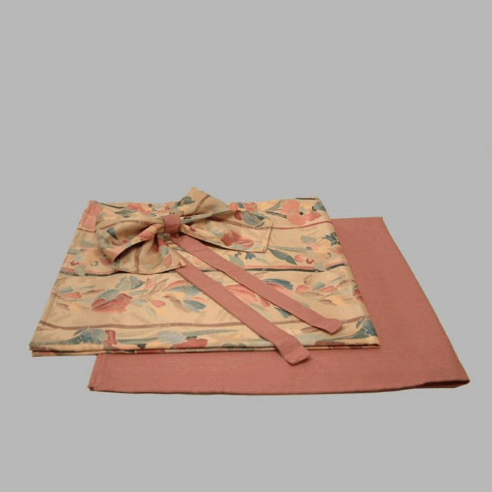 tablecloth terra cotta color set