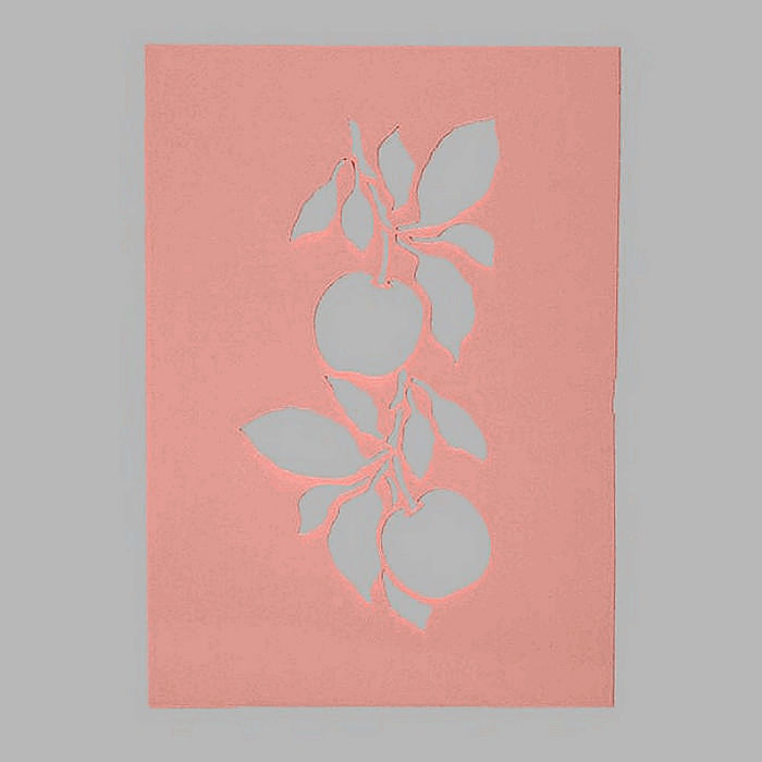 apples stencil transparent 15 x 21 cm washable