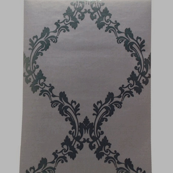 non-woven wallpaper damask classic black