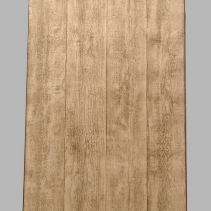 non-woven wallpaper wooden planks light brown