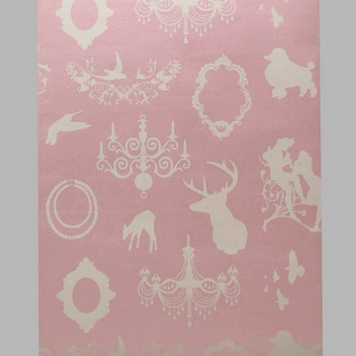 wallpaper frames nostalgia silk glossy rose and white