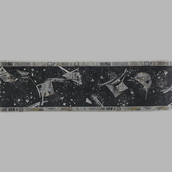 wallpaper border space silver and gold 13 cm x 5 meter