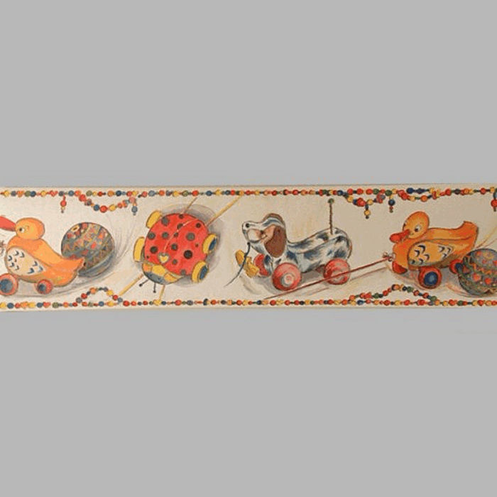 wallpaper border toy carts and beads 18 cm x 5 meter
