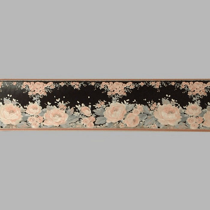 wallpaper border with roses 18 cm x 5 meter