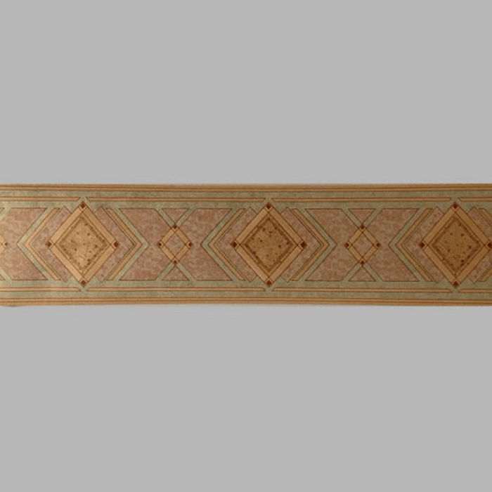 bordure de papier peint diamond chic or/verte 17 cm x 5 mètres