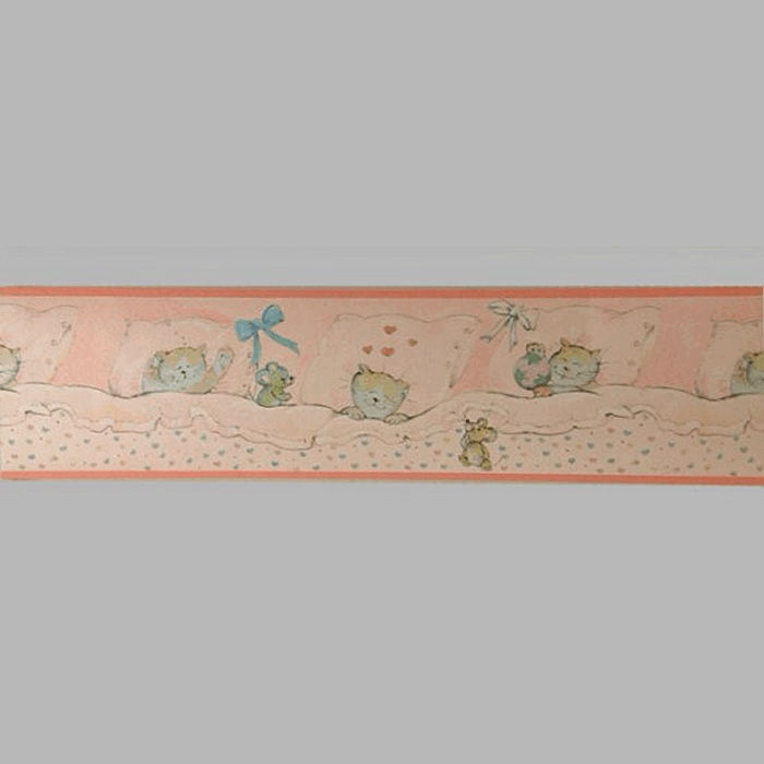 wallpaper border cat and mouse rose 18 cm x 5 meter