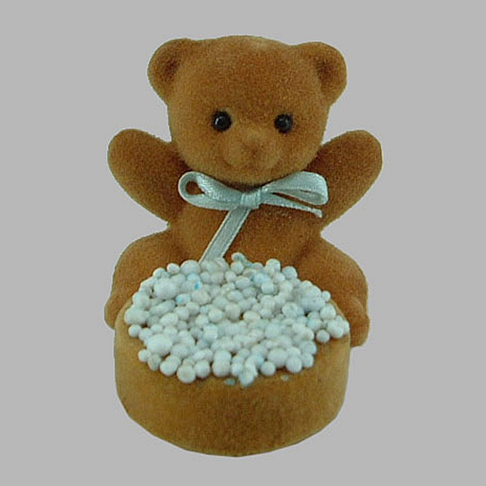bear and rusks with big small sprinkles 6 x 5 x 7 cm