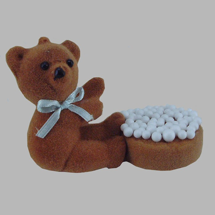 bear and rusks with sprinkles for decoration 6 x 5 x 7 cm