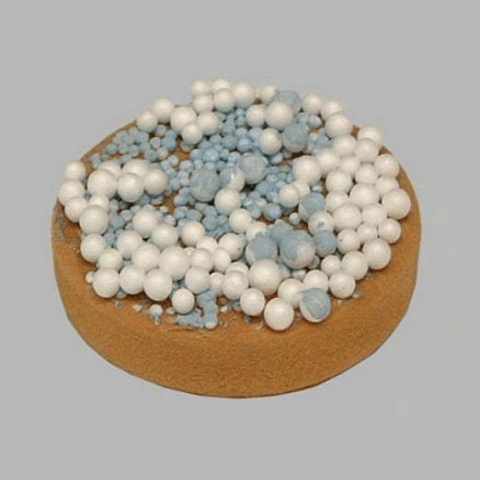 rusks with sprinkles for decoration color white-blue 7 cm