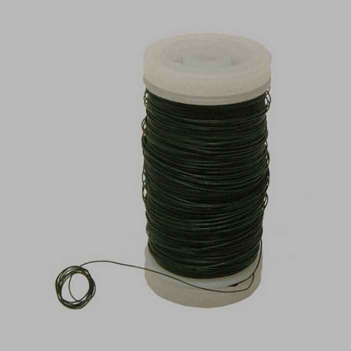 wire for bind or wrap color green wire 0 4 mm 100 gr :