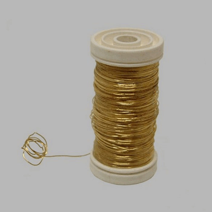 wire for bind or wrap color brass wire 0 4 mm 100 gr