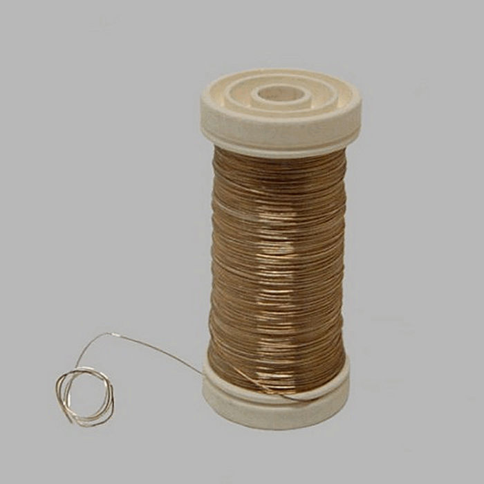 wire for bind or wrap color silver wire 0 4 mm 100 gr