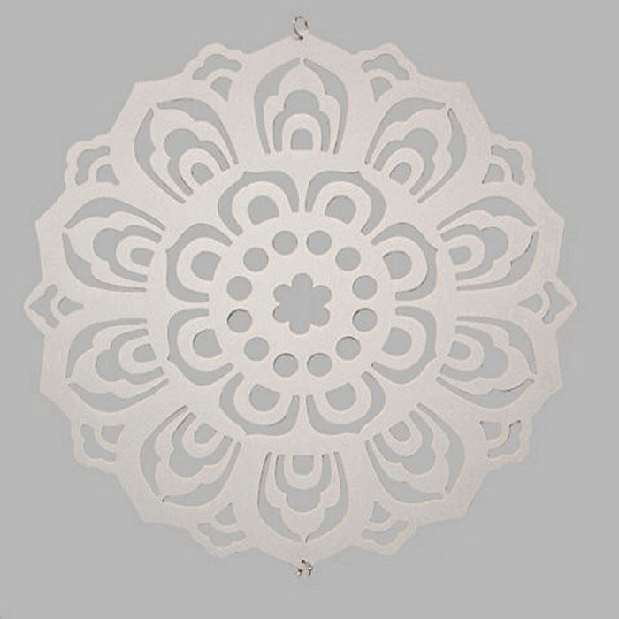 Flower template for decoration color white 50 cm
