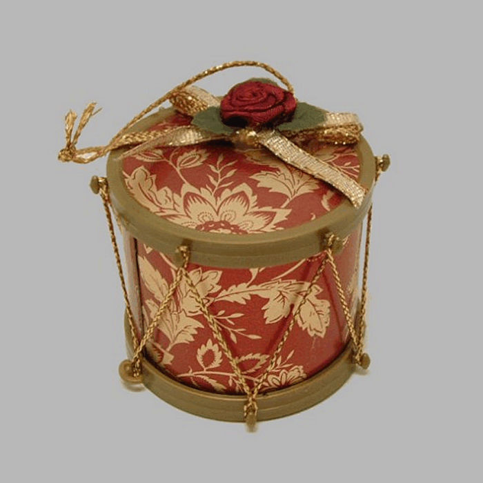 Drum with rose 5 cm