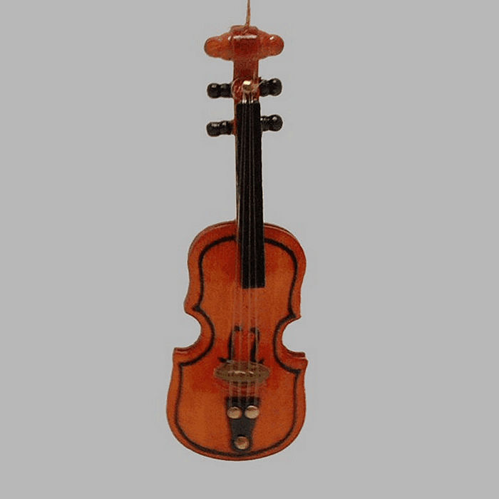decoration violin with strings 8 cm