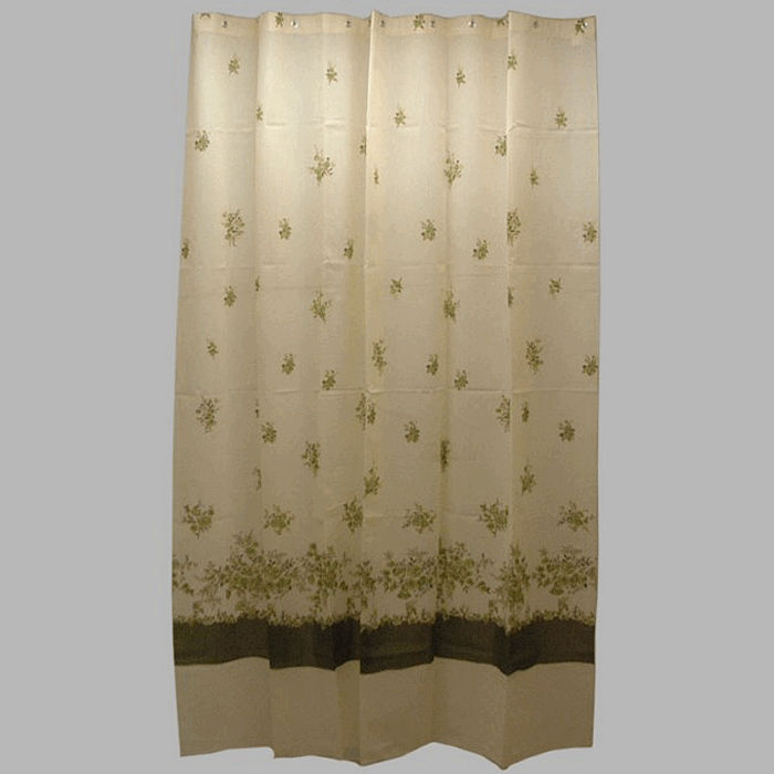 shower curtain fabric rose green 200 x 175 cm