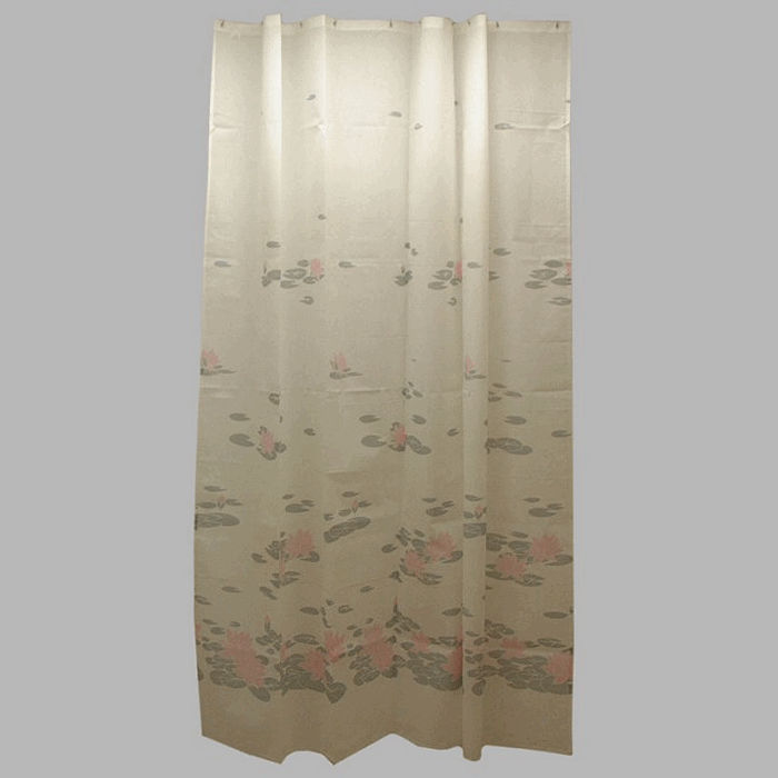 shower curtain fabric waterlily pink 200 x 175 cm