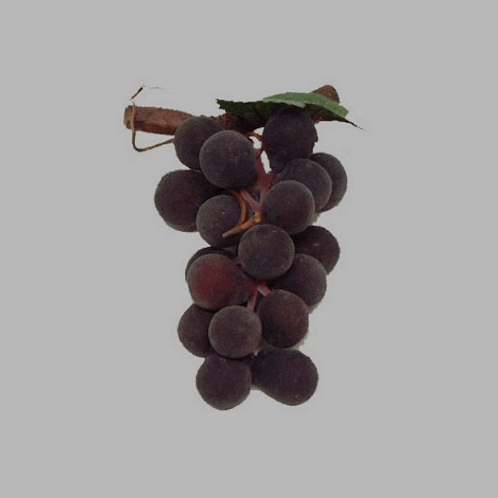 bunch of grapes with stick color blue fake fruit 8 x 4 cm