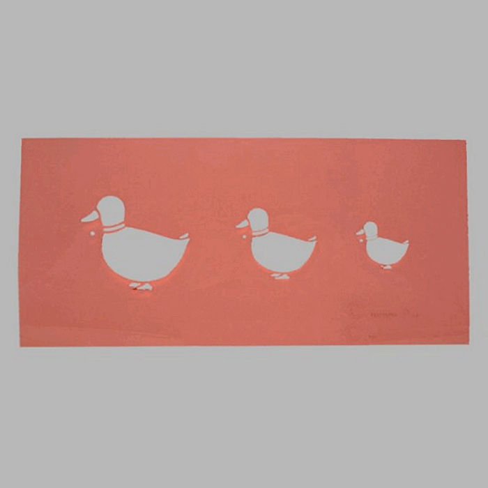 pochoir de canards transparent 16 x 25 cm lavable