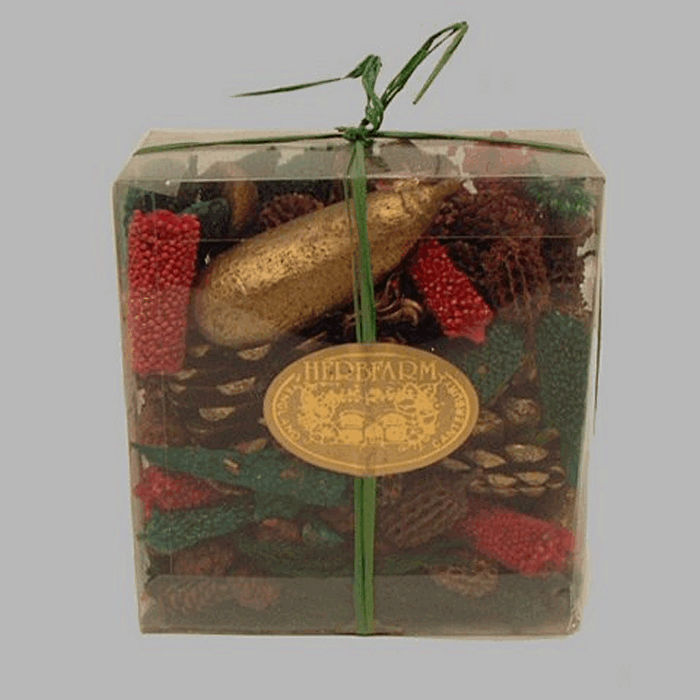 English Christmas garnish in transparent box 250 gr