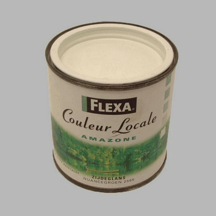 flexa couleur locale satijn 250 ml amazone nuance groen