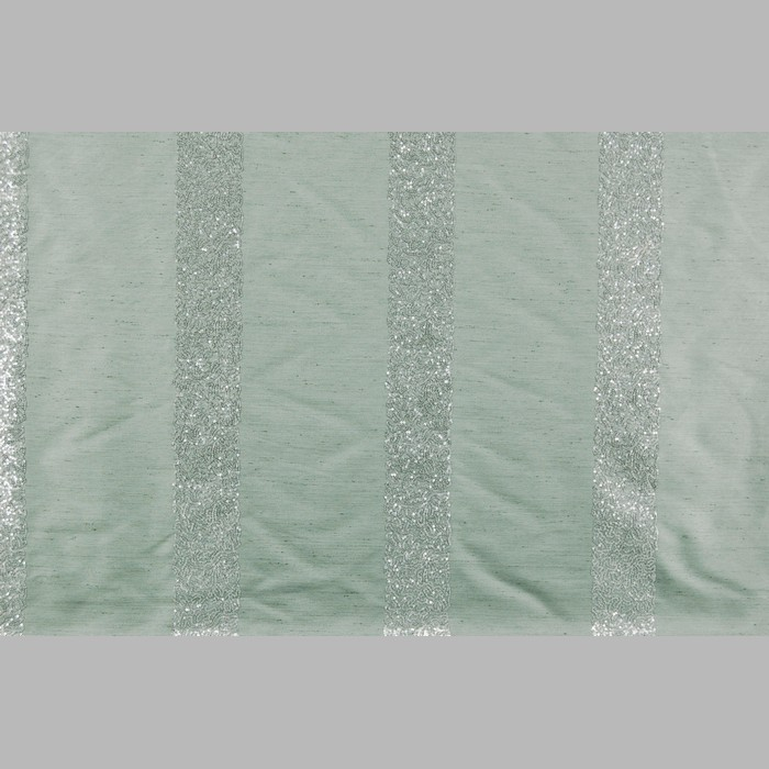 Curtain fabric Peyote Green with Paillette Sequins 140 cm