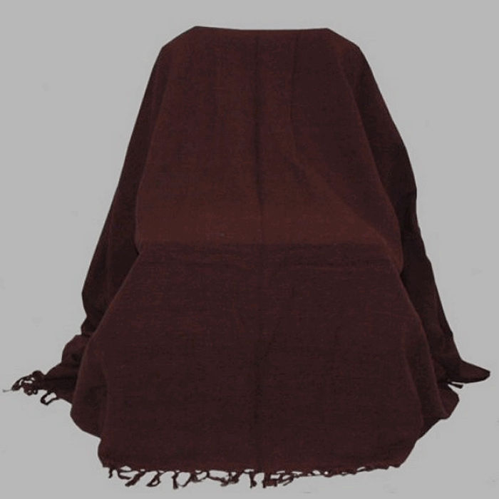 grand foulard color mocca brown 220 x 250 cm