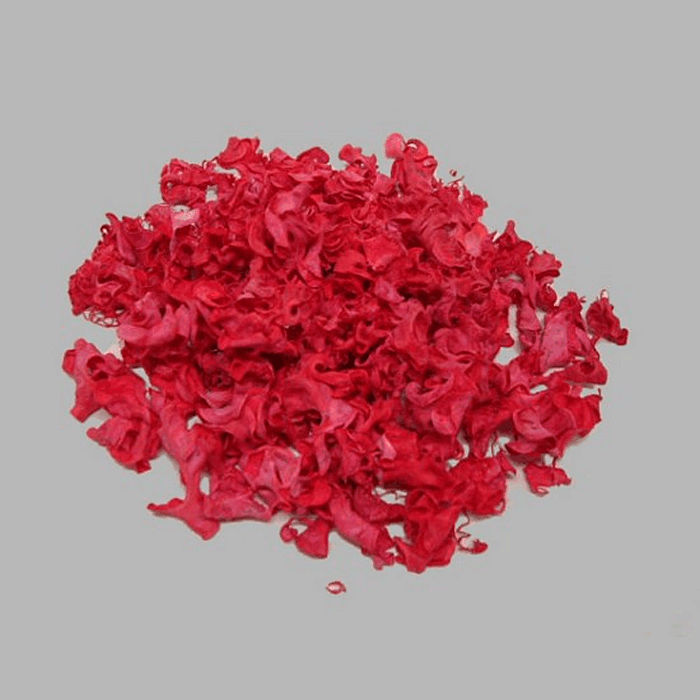 wood shavings for decoration color red 150 gr