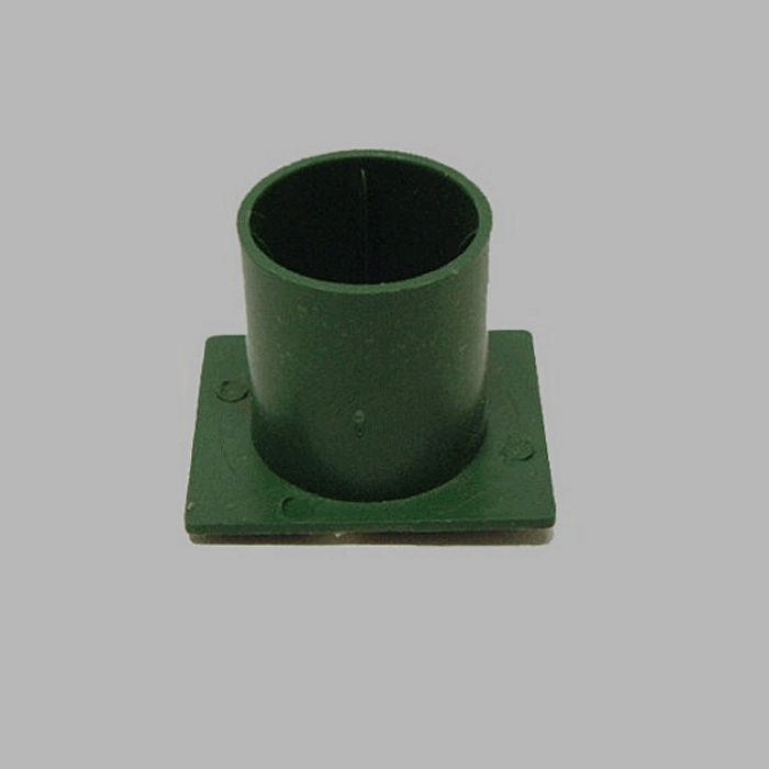 candle holder with fix glue color green 3 x 4 cm