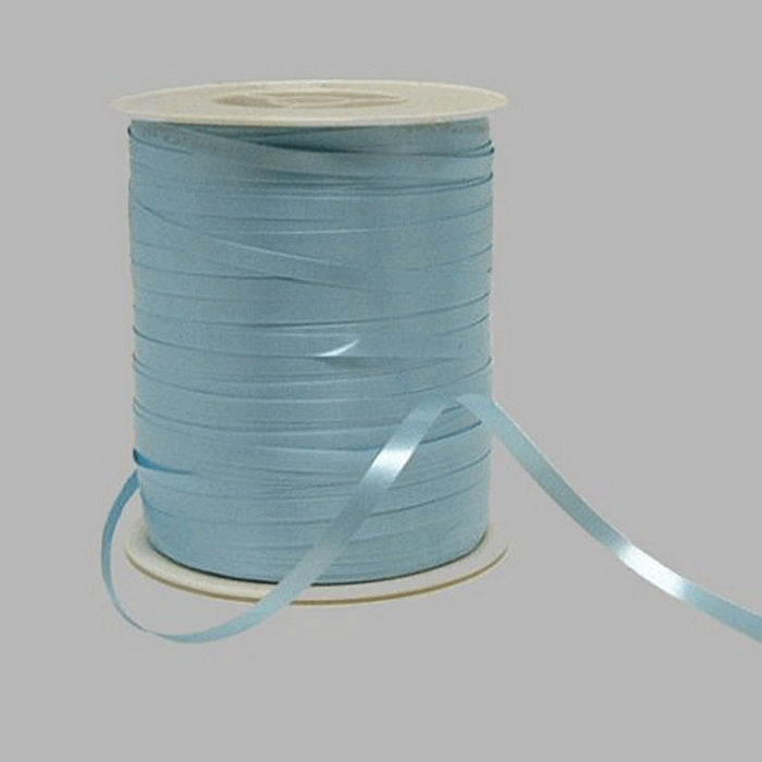 Gift Ribbon of paper color light blue 5 mm wide 500 m