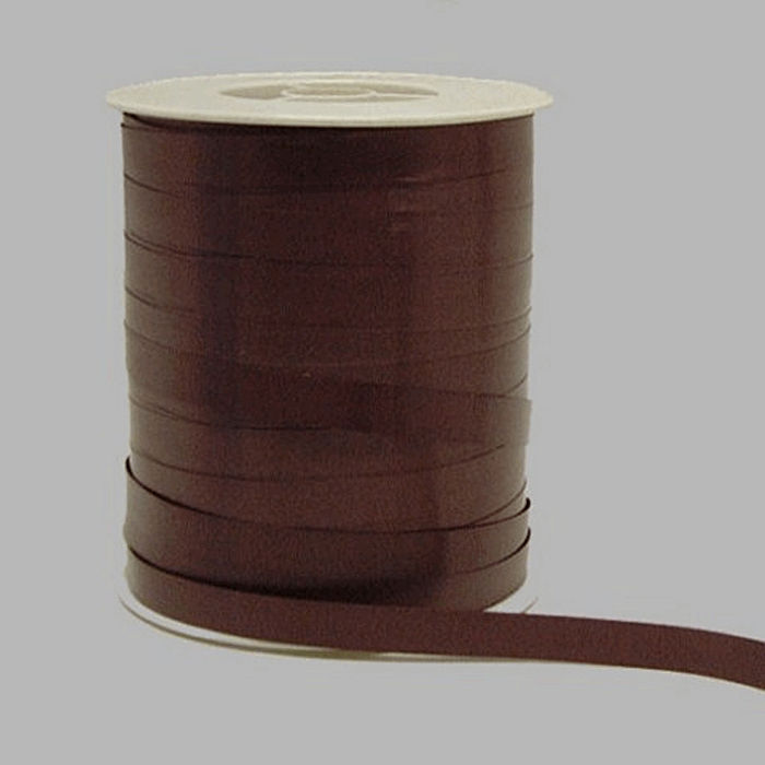 gift ribbon of paper color brown 10 mm wide 250 m