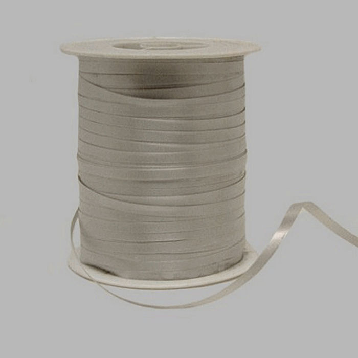 gift ribbon of paper color silver 5 mm wide 500 m