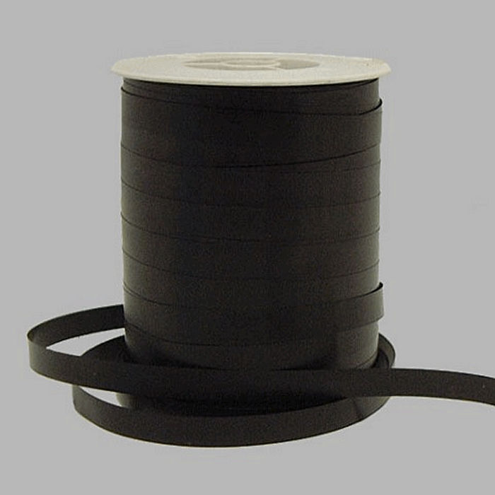 gift ribbon of paper color black 5 mm wide 500 m