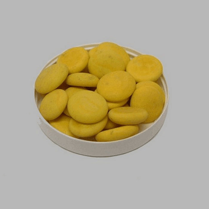 pebbles for decoration color yellow 200 gr