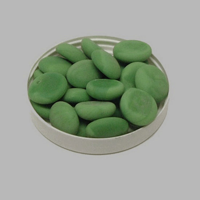 pebbles for decoration color green 200 gr