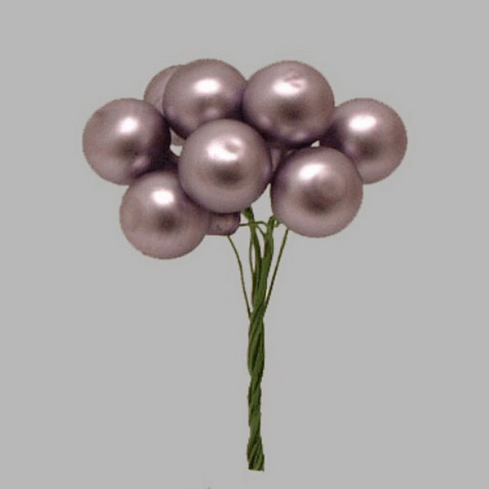 Christmas balls on wire color purple 1 5 cm-10 pcs
