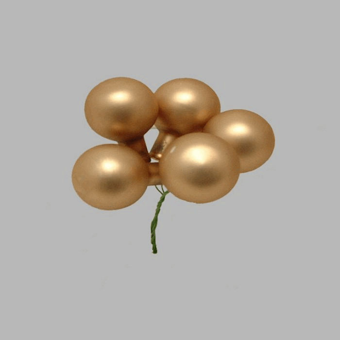 Christmas balls on wire color gold 3 5 cm-5 pcs