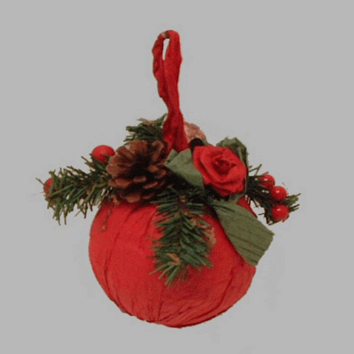 Christmas ball with ornaments color red 15 cm