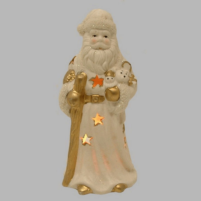 Santa Claus as tea light 20 cm high