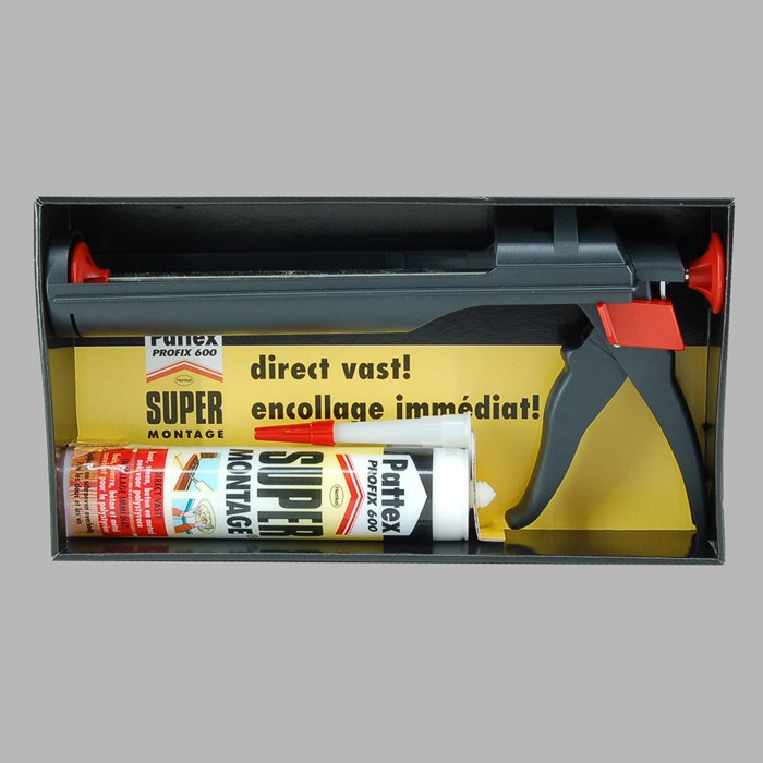 pattex caulking gun glue 600 profix set