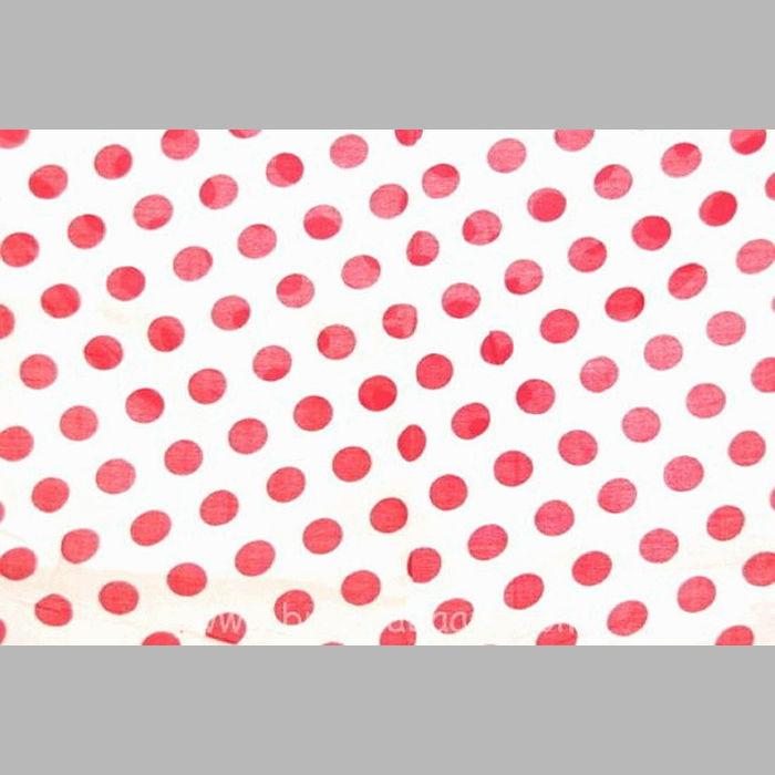 coupon wit met rode bollen