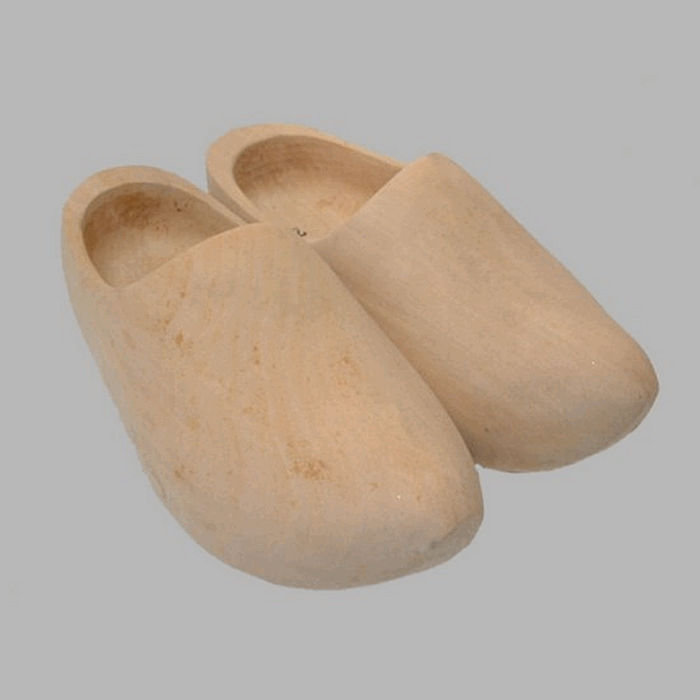 clogs for decoration color natural 29 x 12 cm