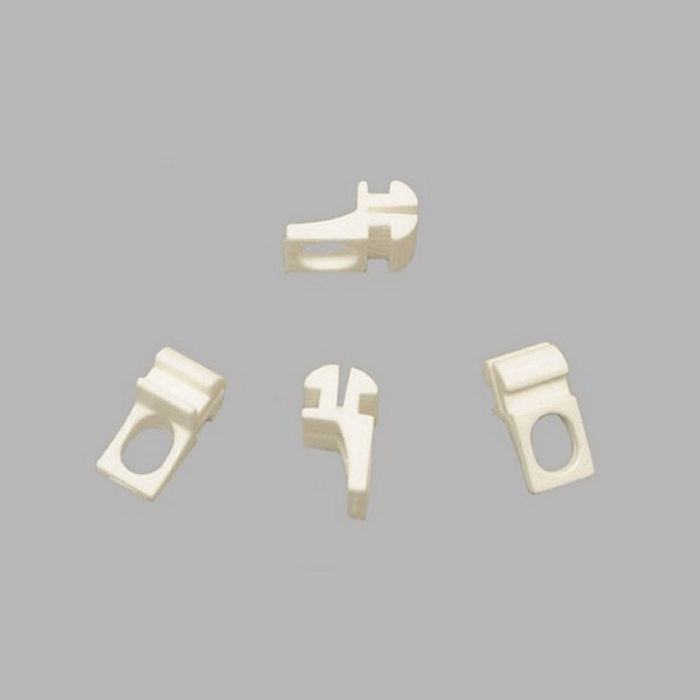 curtain rod gliders eye not in middle 20 x 10 mm white
