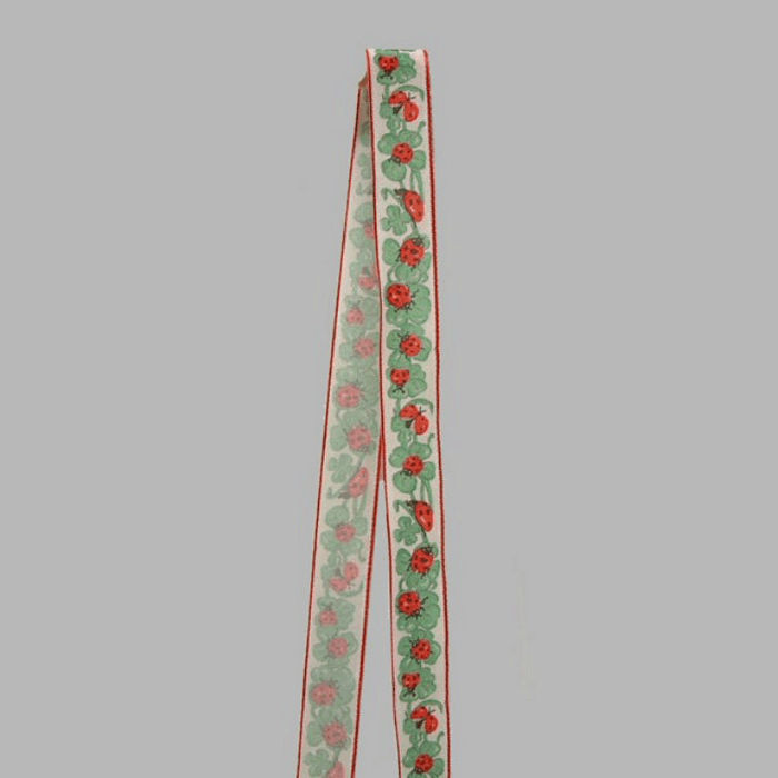 ribbon of fabric Ladybugs design width 25 mm