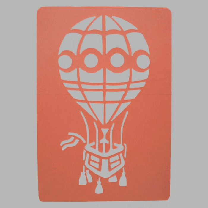 air balloon stencil transparent 26 x 38 cm washable