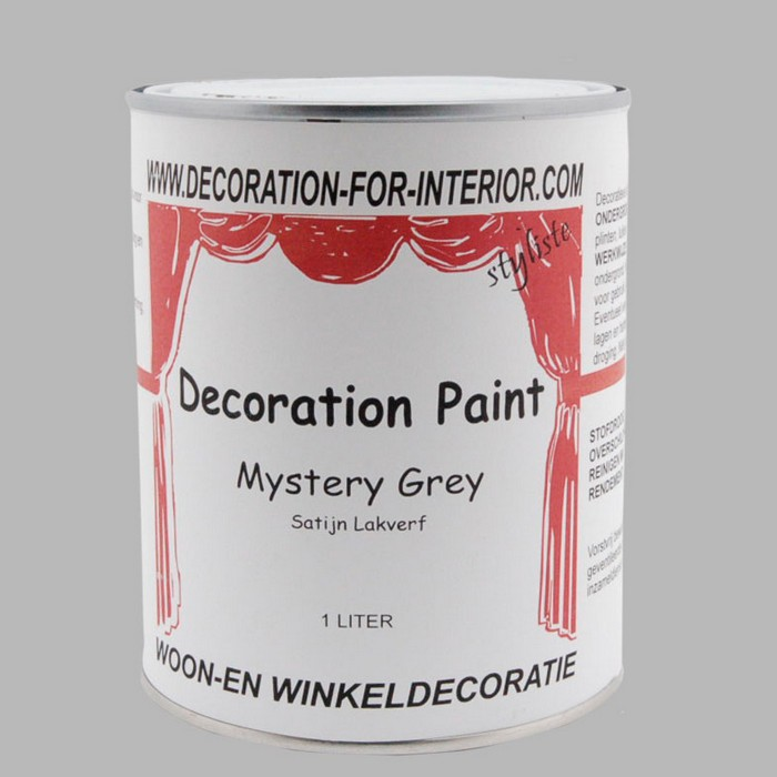 DECORATION PAINT | MYSTERY GREY LACQUER PAINT 1 liter