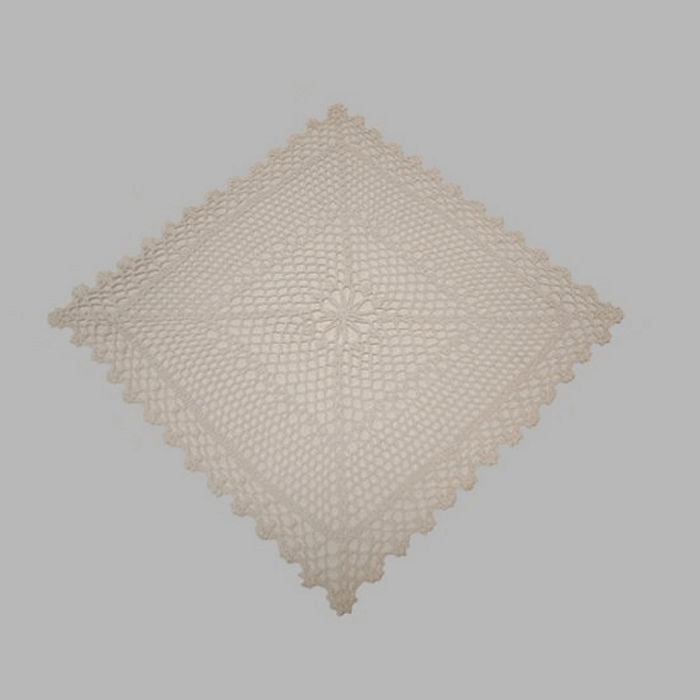 placemat of lace color cream reinforced 40 x 40 cm