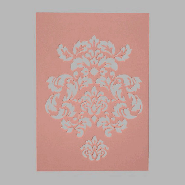 ornament stencil transparent 15 x 21 cm washable