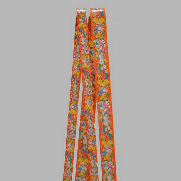 Easter ribbon color orange 2 and 3 cm wide length 5 meter